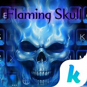 Новая тема Flaming Skull Kika Keyboard на Андроид - Взлом на лицензию